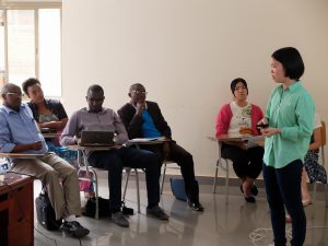 和解の授業にて「在日韓国人と日本人の和解」についてチームで発表